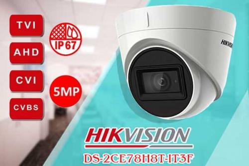 Hikvision DS-2CE78H8T-IT3F có thiết kế đột phá bằng các kiểu dáng độc lạ