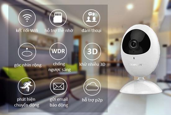 Camera wifi còn được tích hợp khá nhiều tính năng thông minh khác nhau