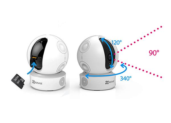 Camera Ezviz CS-CV246 1080P được thiết kết với góc nhìn trên diện rộng