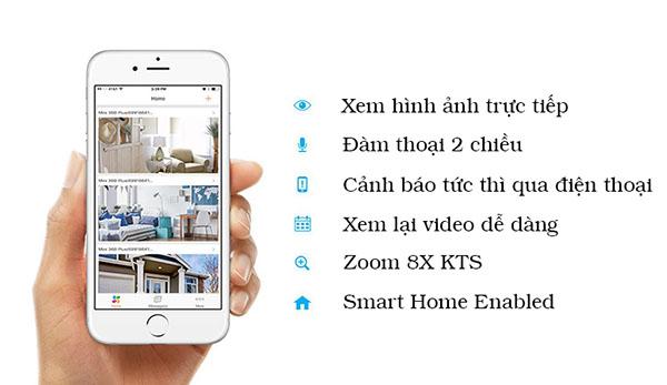 Camera IP Wifi EZVIZ CS-CV246 (C6C 720P) bảo mật tốt