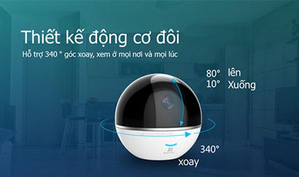 Camera IP Wifi EZVIZ CS-CV248-A3-32WMFR có thể xoay ngang dọc cho góc nhìn toàn diện