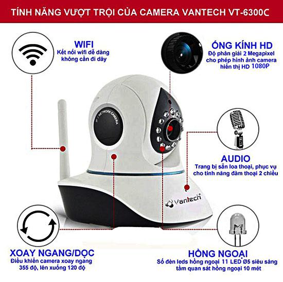 Những tính năng mới ưu việt của Camera IP Wifi Vantech VT-6300C