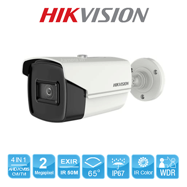 Camera HDTVI 4in1 Hikvison DS-2CE16D3T-IT3F 2MP