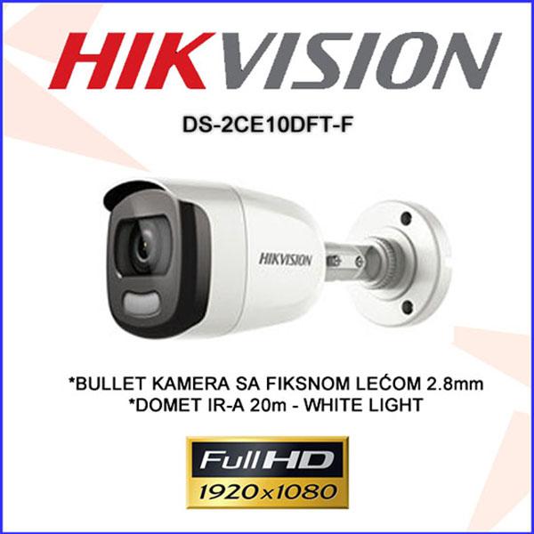 Camera Hikvision DS-2CE10DFT-F có màu 24/24