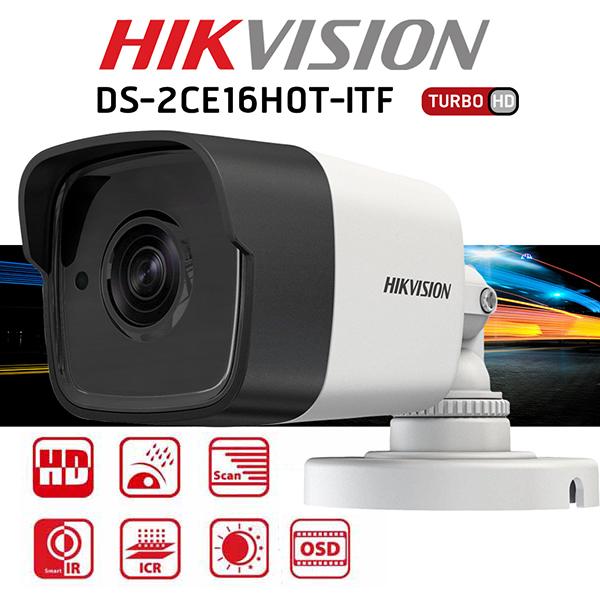 Camera Hikvision DS-2CE16H0T-ITF 5.0M màu trắng, nhiều tính năng hiện đại