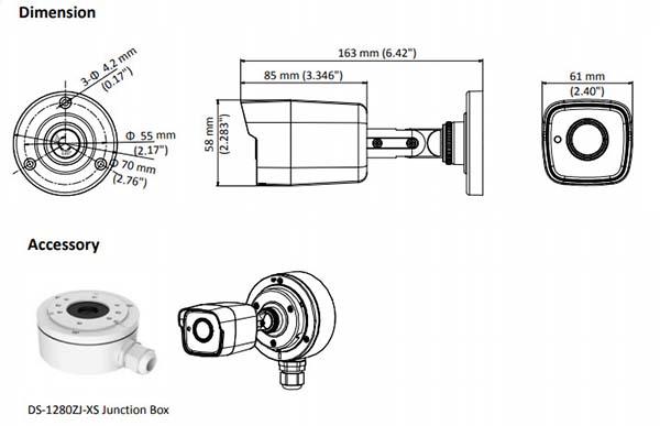 Thông số kỹ thuật 1 số bộ phận của camera Hikvision DS-2CE16H0T-ITPF