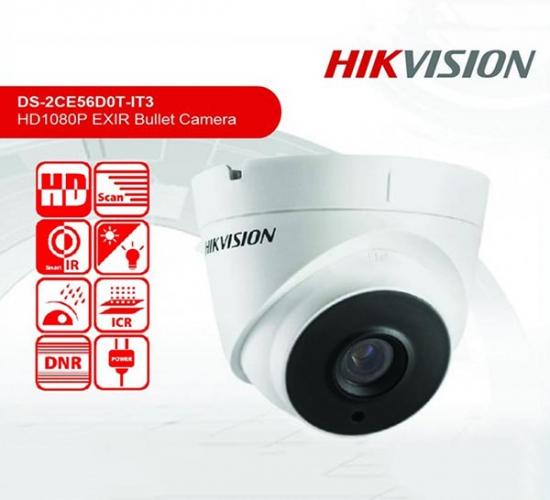 Camera Dome HDTVI 2.0 Mp Hikvision DS-2CE56D0T-IT3
