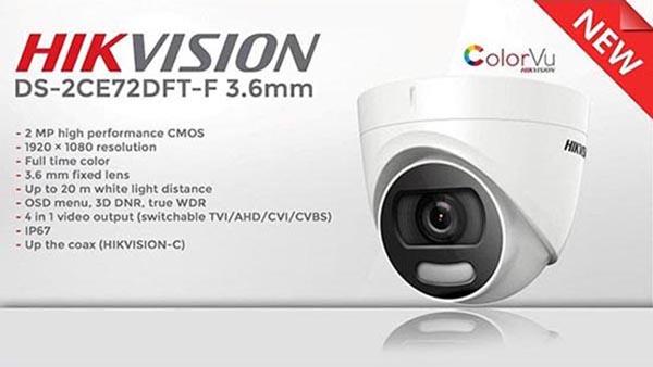DS-2CE72DFT-F là bước tiến mới về công nghệ giám sát ban đêm