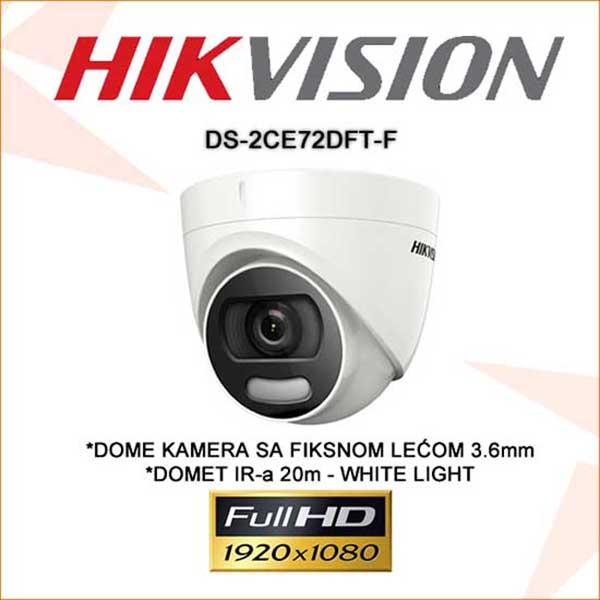 Camera Hikvision DS-2CE72DFT-F Dome HDTVI 5Mp