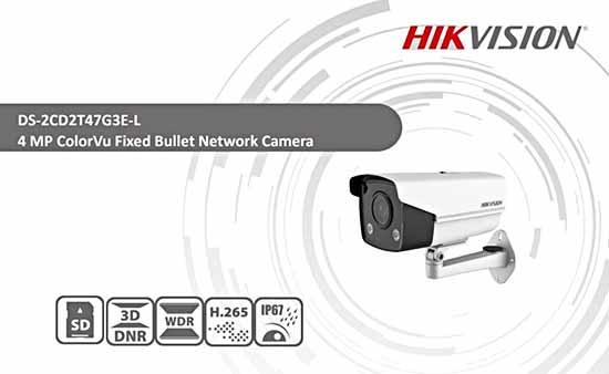 Hikvision DS-2CD2T47G3E-L tích hợp nhiều tính năng hiện đại