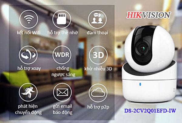 Hikvision DS-2CV2Q21FD-IW tích hợp nhiều tính năng tiên tiến hiện đại