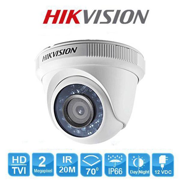 Camera Dome HD-TVI hồng ngoại 2M Hikvision DS-2CE56D0T-IRP