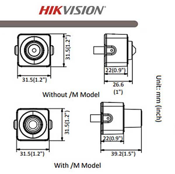 Các thông số kỹ thuật chính của Hikvision DS-2CD2D21G0/M-D/NF