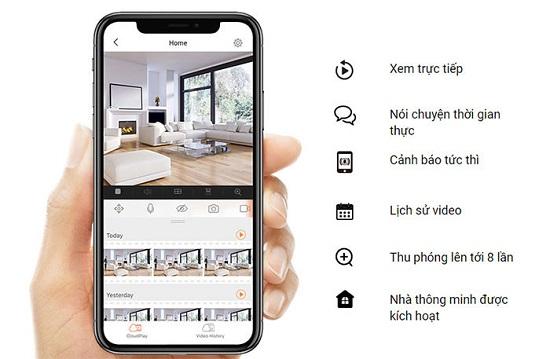 Tích hợp micro và Loa bạn có thể trò chuyện cùng mọi người trong nhà.