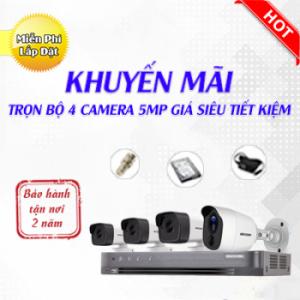 Trọn bộ 4 camera quan sát 5.0 Megapixel