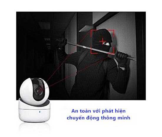 Camera thu âm Hikvision có khả năng quay quét thông minh, góc quan sát rộng