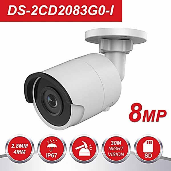 Camera IP Thân Trụ Mini 8MP HIkvision DS-2CD2083G0-I thiết kế nhỏ gọn xinh xắn