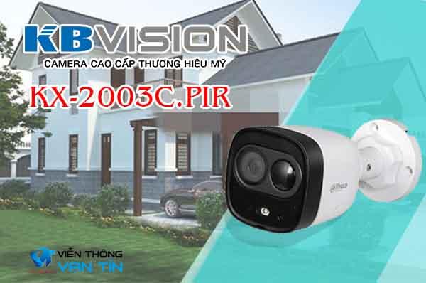 Camera HDCVI hồng ngoại 2.0 Megapixel KBvision KX-2003C.PIR