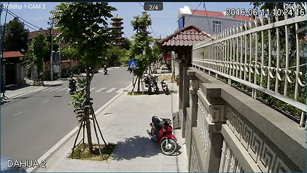 Lắp đặt camera quan sát trước cổng ra vào