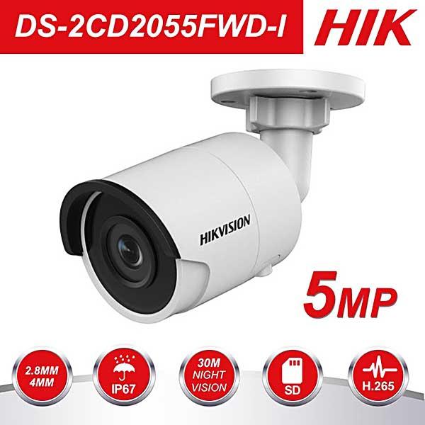 Camera IP Thân Ống mini Hikvison DS-2CD2055FWD-I đa năng tiện lợi