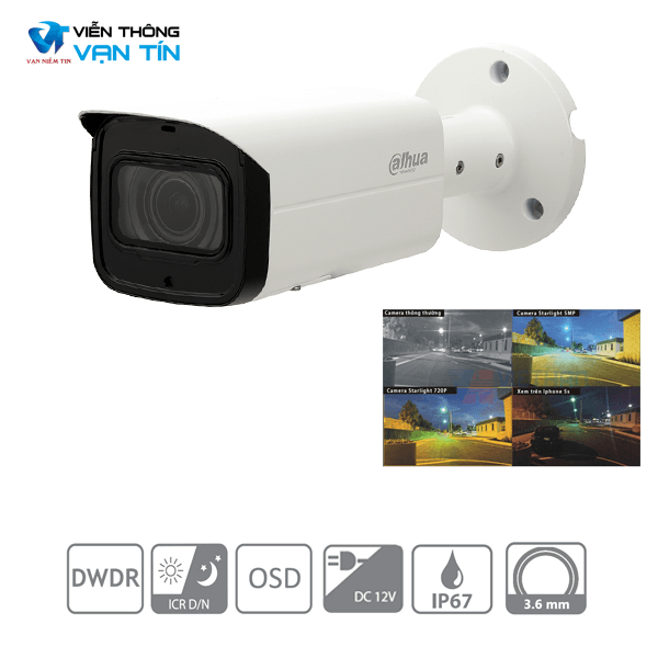 Camera IP starlight IPC-HFW2231TP-VFS