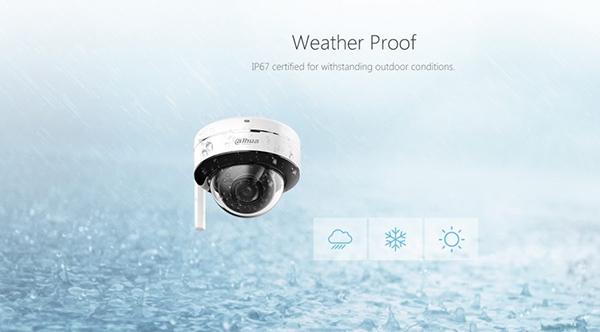 IMOU IPC-D26P có khả năng chống thắm nước,bụi bẩn cực tốt đạt chuẩn IP67