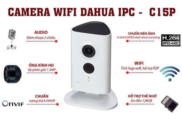 Camera IP Wifi 1.3MP Dahua IPC-C15P