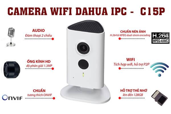 Camera giám sát không dây giá rẻDahua IPC-C15P