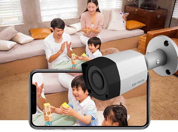 KBVision KX-2011S4 cho hình ảnh độ phân giải 2.0MP Full HD 1080P siêu nét
