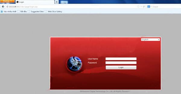 Trang với bảng biểu đăng nhập xemcamera Hikvision trên web và Mobile
