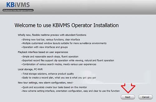 Tiếp tục tiến hành cài đặt KBiVMS