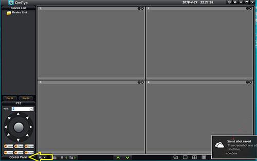 chọn mục Contel Panel trong phần mềm QMEye