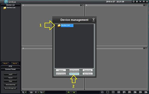 Add the Camera phần mềm QMEye