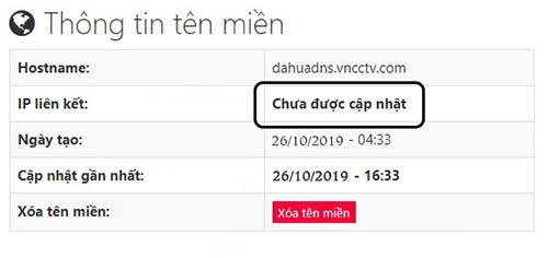 Trang thông tin cài đặt tên miền vncctv