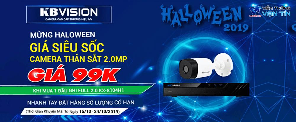 khuyến mãi sốc camera kbvision mừng halloween