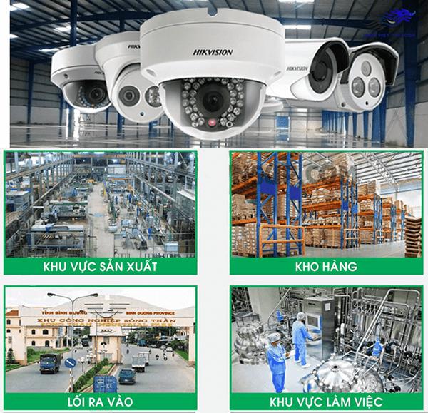 Các khu vực trong nhà xưởng nên lắp camera giám sát