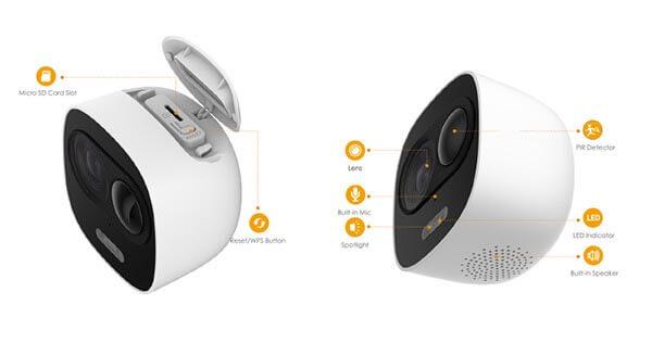 Camera IP wifi Dahua IPC-C26EP thiết kế gọn nhẹ bắt mắt thiết kế độc đáo