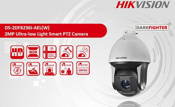 Mẫu Camera PTZ của Hikvision có thể quay quét thông minh