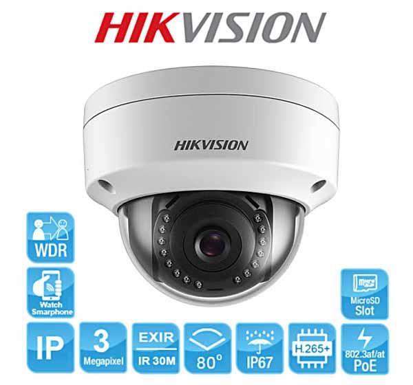 Camera Dome 3MP Hikvision DS-2CD2135FWD-IS người bạn đồng hành cùng mọi gia đình