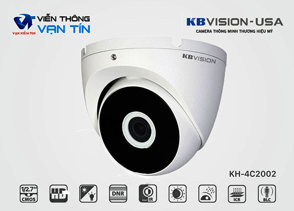 KBvision KH-4C2002 được tích hợp rất nhiều tính năng giám sát hiện đại