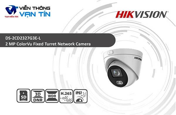 Camera Colorvu Dome Chuẩn H.265 Hikvision DS-2CD2327G3E-L có độ phân giải 2 megapixel