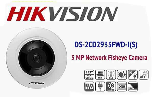 Camera Mắt Cá EXIR 8M Hikvision DS-2CD2935FWD-ISlà dòng camera IP cao cấp mới nhất