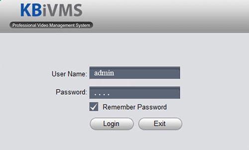 Điền tên đăng nhập & mật khẩu phần mềm KBView Llite