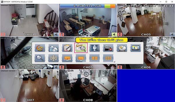 Cách xem lại Camera trên ứng dụng Vantech V1