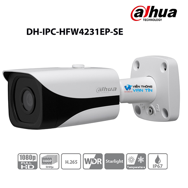 Camera IP 2MP Starlight+ePoE DahuaIPC-HFW4231EP-SE