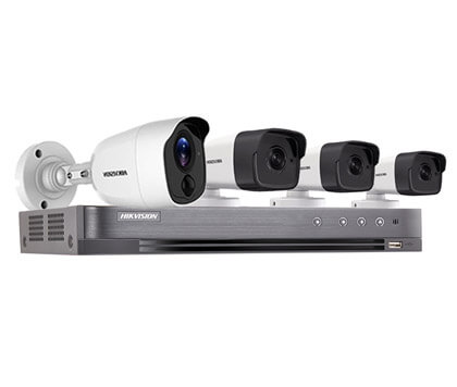 Trọn Bộ 4 Camera Hikvision 5.0M Full HD Báo Động Giả 1 Khu Vực