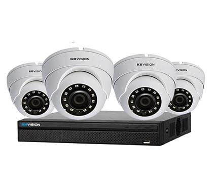Trọn Bộ 4 Camera KBvision 2.0MThu Âm & Báo Động