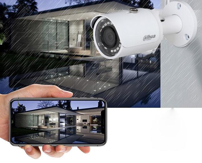 Camera ngoài trời dạng thân mạnh mẽ với lớp vỏ bọc hợp kim cao cấp, chống mưa chống bụi