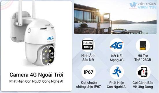 SmartZ IS11 Camera 4G Ngoài Trời Tính Năng Thông Minh