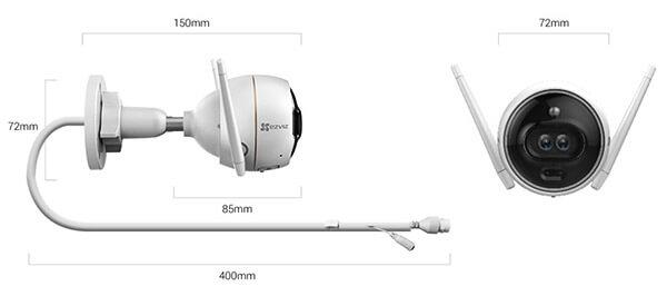 Kích thướcCamera IP Wifi Ezviz C3XCS-CV310